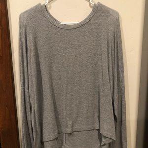 Brandy Melville grey knit tee